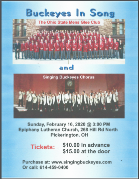 2020 OSU Glee Club Show Poster